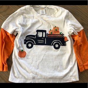 Gymboree pumpkin truck shirt